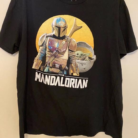 star wars:mandalorian baby yoda & Boba Fett shirt